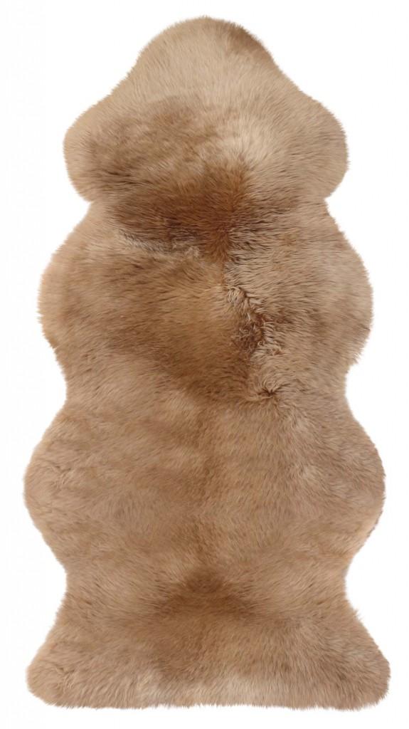 Camel-farbenes Lammfell aus 1 1/2 Fellen