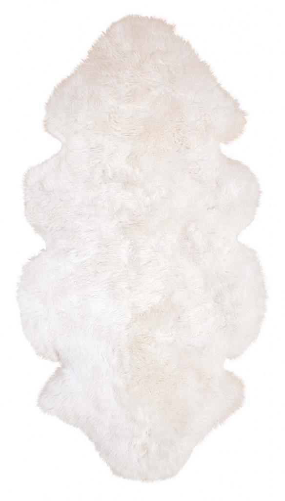 Lammfelle aus 1 1/2 Fellen Farbe naturweiß