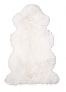 Lammfell aus 1 1/2 Fellen Farbe naturweiß