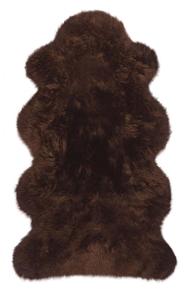 Lammfelle aus 1 1/2 Fellen Farbe braun