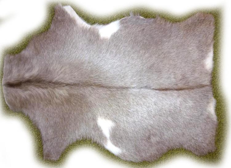 Ziegenfell grau meliert