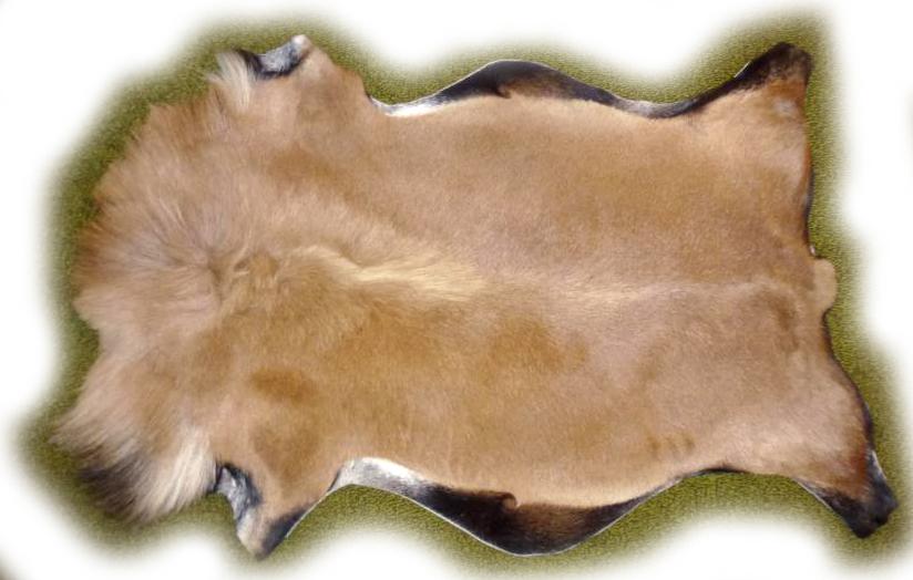 Ziegenfell Braun mit schwarzem Saum