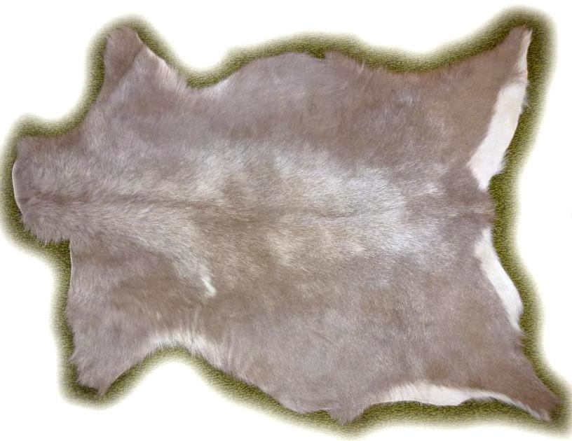 Ziegenfell grau-meliert