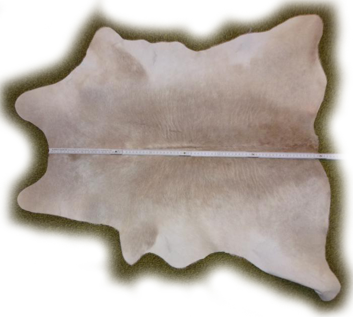 Ziegenfell Beige-hellbraun