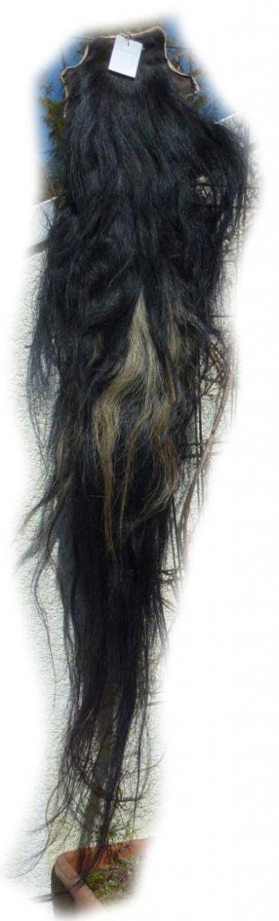 Pferdeschweif Schwarz mit etwas blond 160 cm Gesamtansicht