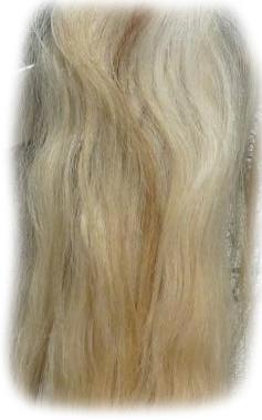 Pferdeschwanz blond 110 cm Detail