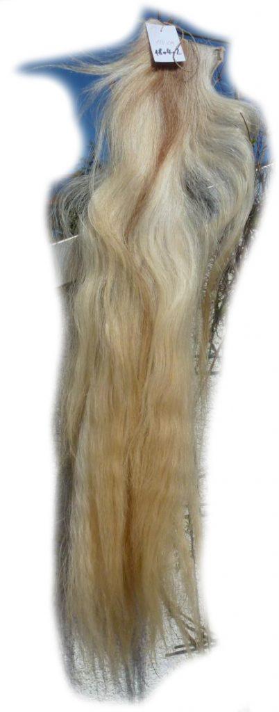 Pferdeschwanz blond 110 cm Gesamtansicht