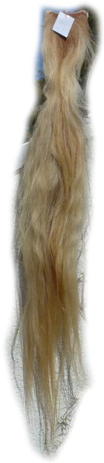 Pferdeschwanz blond 135 cm Gesamtansicht