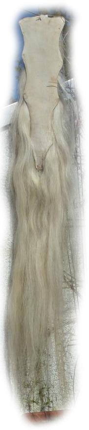 Pferdeschwanz blond mit etwas rot 140 cm Lederseite