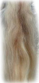 Pferdeschwanz hellblond mit etwas rot 140 cm Detail