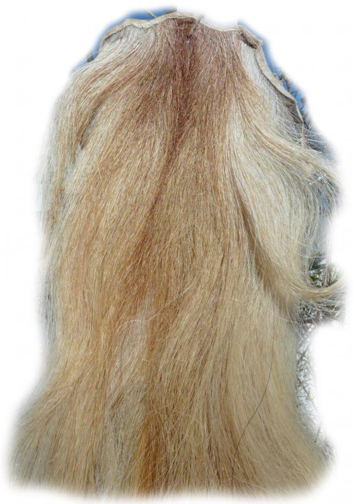 Pferdeschweif hellblond mit etwas rot 140 cm Detail
