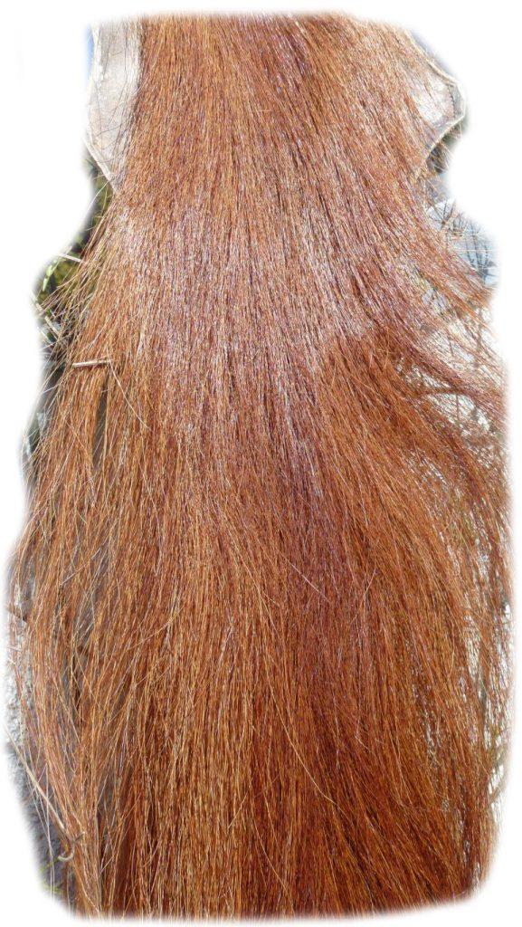 Pferdeschweif rot 135 cm Detail