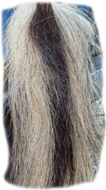 Pferdeschweif Schwarz mit grau 110 cm Detail