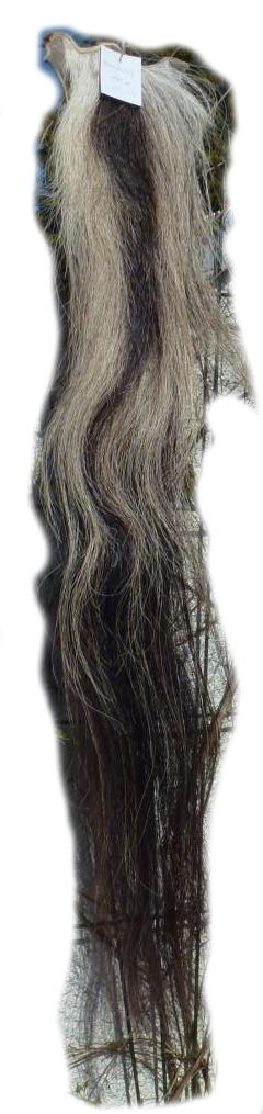 Pferdeschweif schwarz mit grau 110 cm