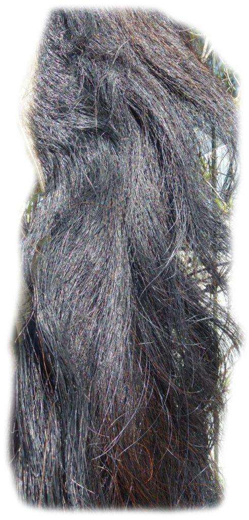 Pferdeschwanz Schwarz 150 cm Detail