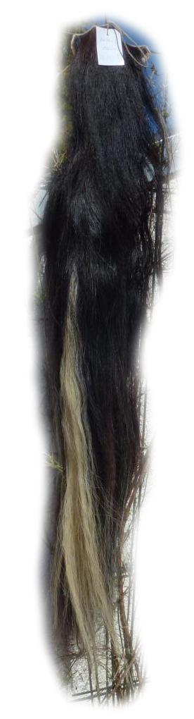 Pferdeschwanz Schwarz-blond 120 cm Gesamtansicht