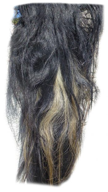 Pferdeschweif schwarz mit etwas blond 160 cm Detail