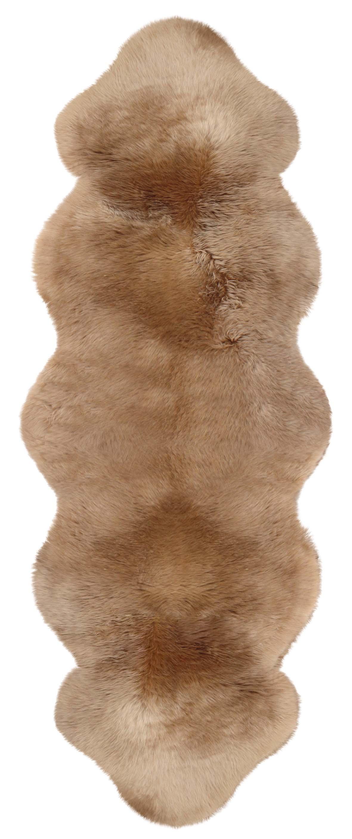 Lammfell aus zwei Lammfellen camel