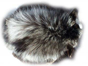 Silberfuchsfell Nackenhaardetail