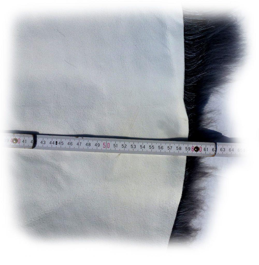 Heidschnuckenfell grau mit braun Breite