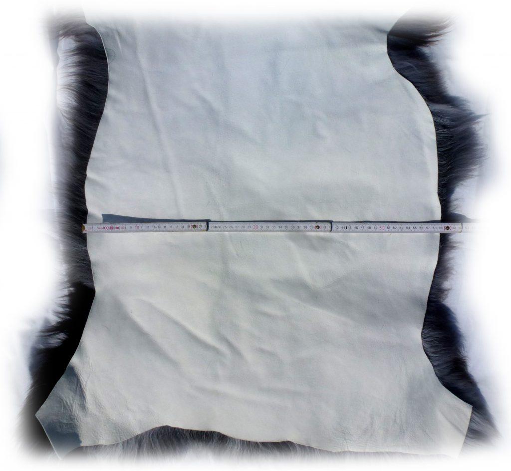 Heidschnuckenfell grau mit braun Gesamtbreite