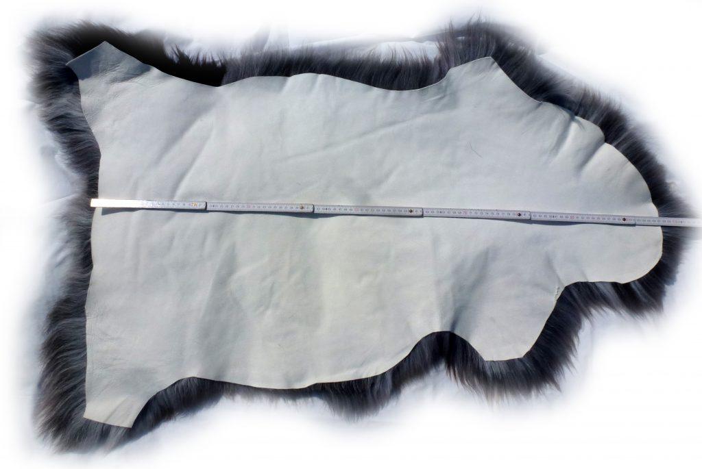 Heidschnuckenfell grau mit braun Gesamtlänge
