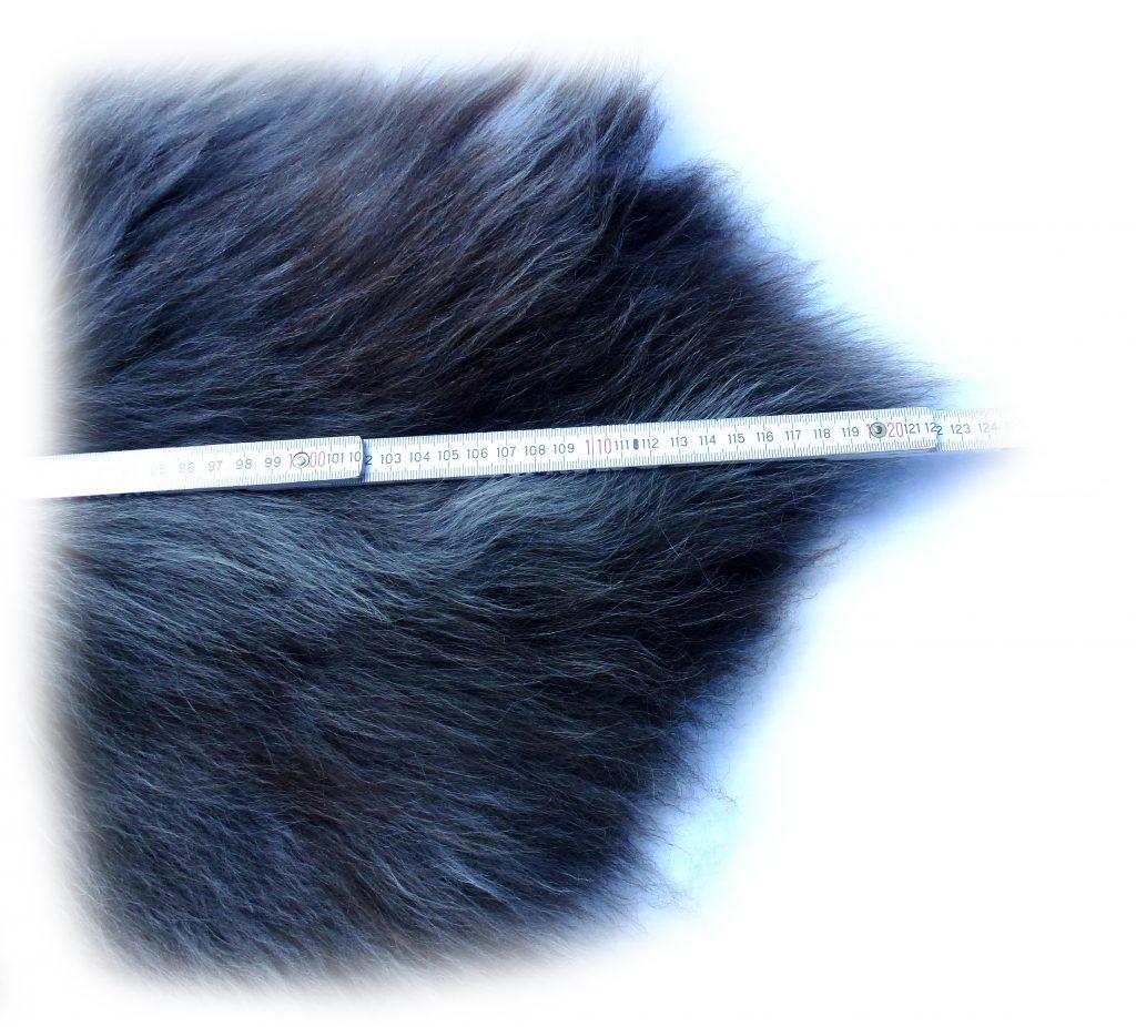 Heidschnuckenfell grau mit braun Optische Gesamtlänge