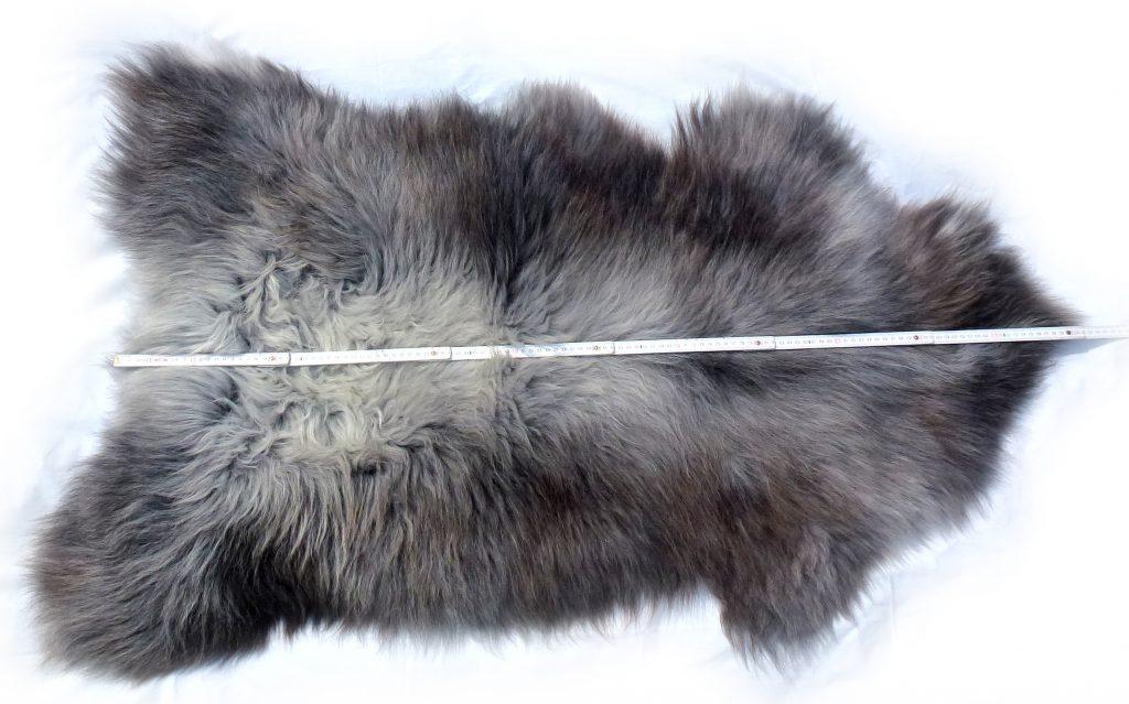 Heidschnuckenfell grau mit braun Optische Länge