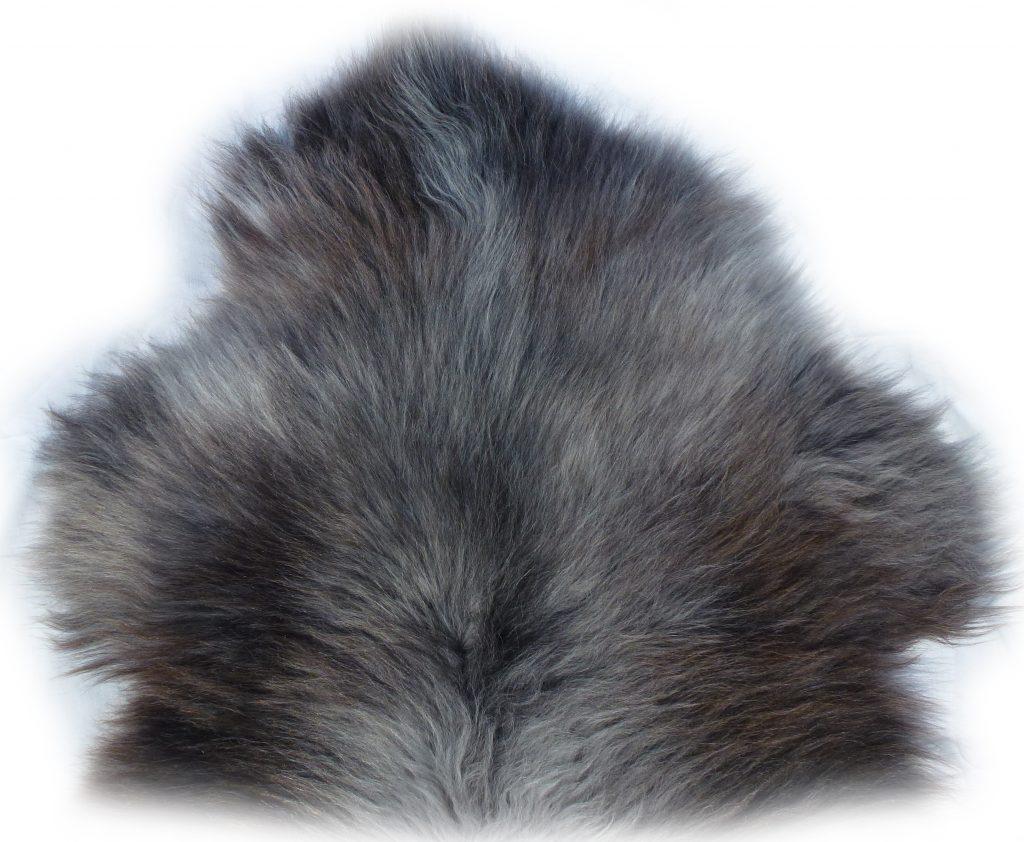 Heidschnuckenfell grau mit braun Vorderseite a