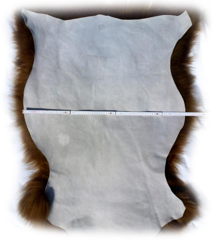 Islandschaffell Braun mit hellen Spitzen Gesamtbreite