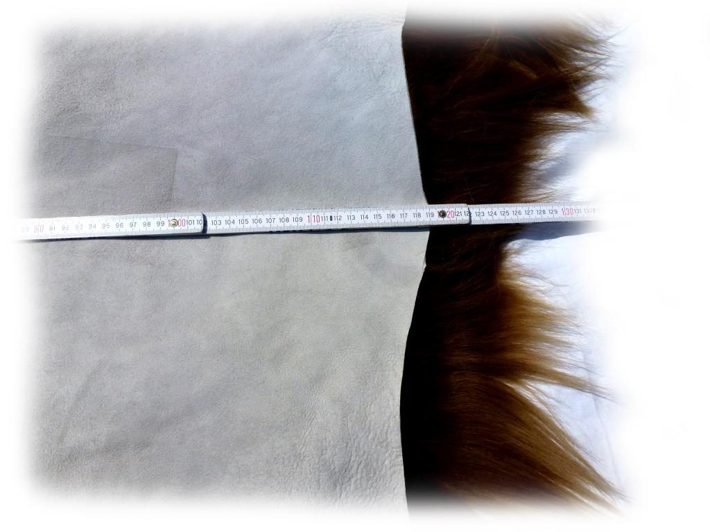 Islandschaffell Braun mit hellen Spitzen Länge