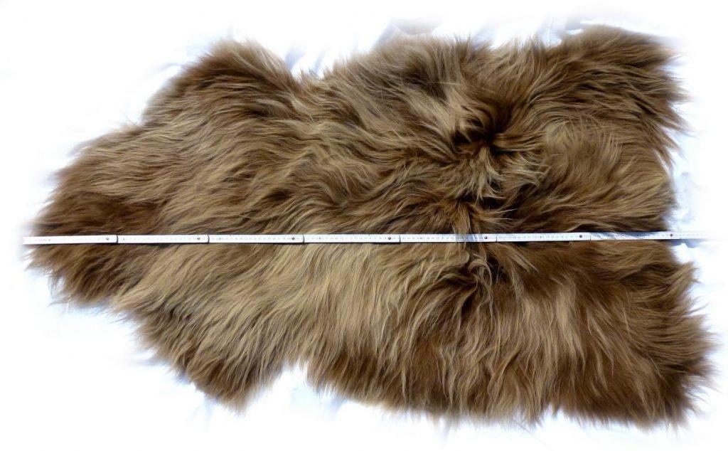 Islandschaffell Braun mit hellen Spitzen Optische Gesamtlänge