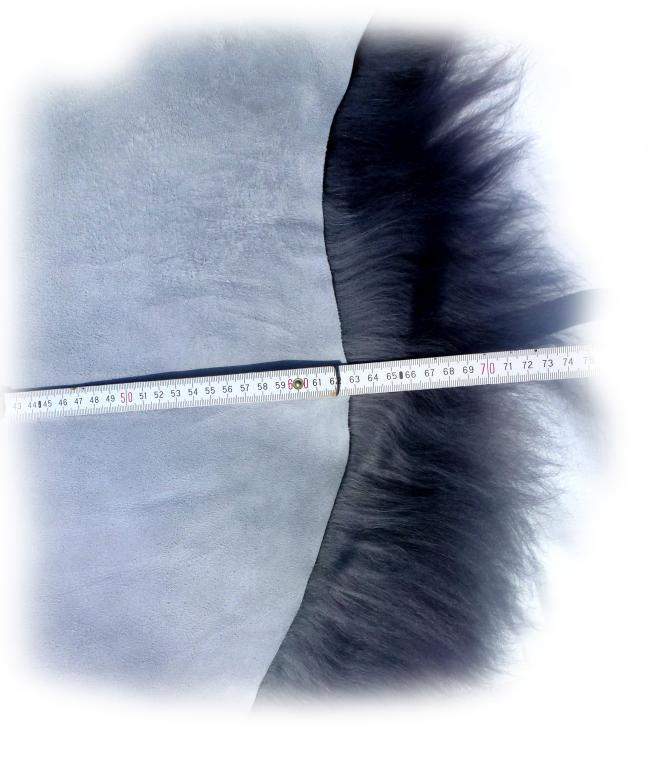 Islandschaffell grau Breite