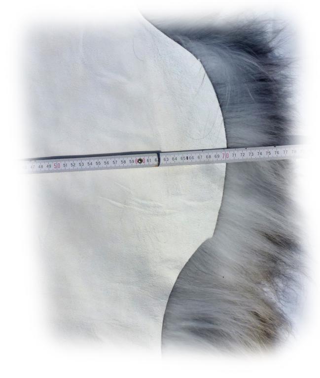 Islandschaffell beige-grau-braun Breite