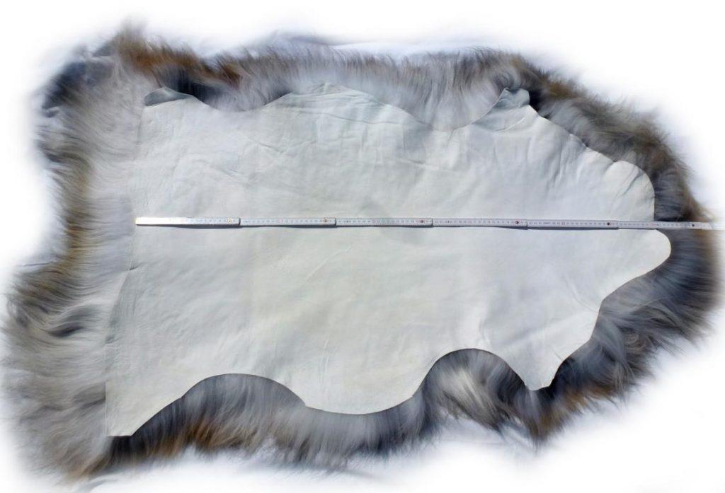 Islandschaffell beige-grau-braun Gesamtlänge