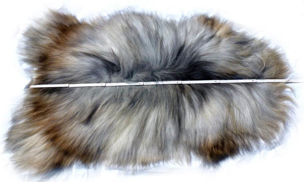 Islandschaffell beige-grau-braun Optische Gesamtlänge