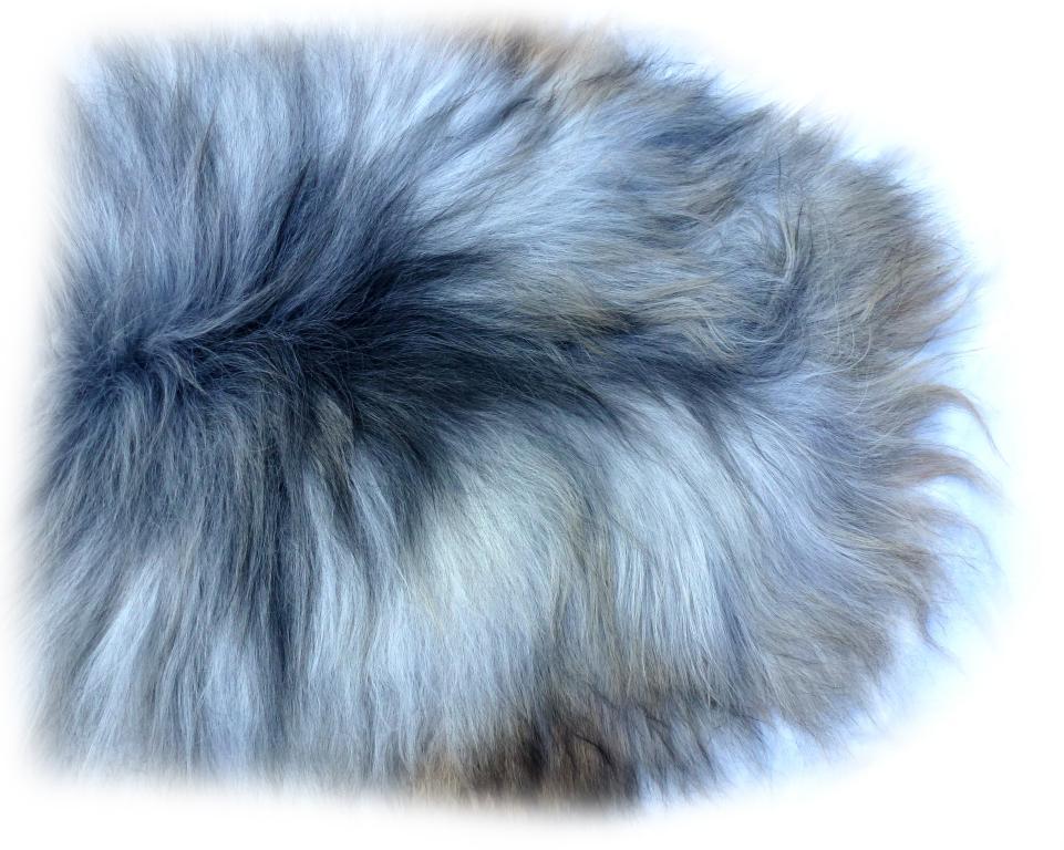Islandschaffell beige-grau-braun Vorderteil