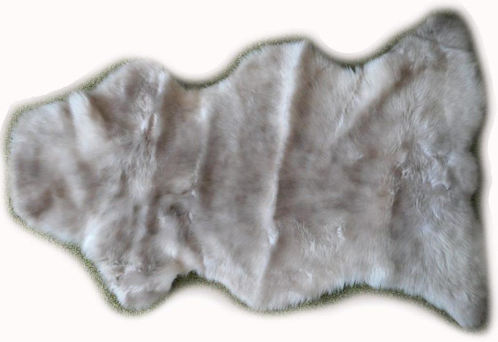 Lammfell beige grau meliert