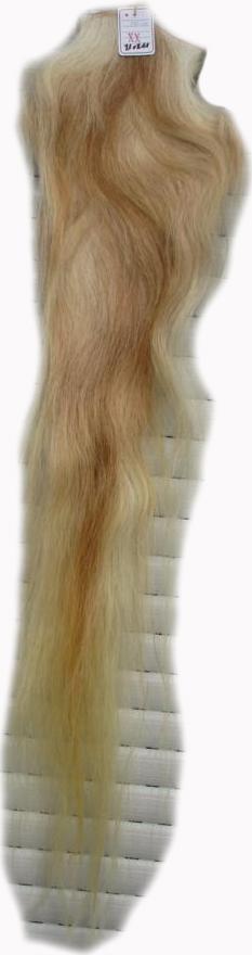 Pferdeschweif extra schwer blond 130 cm