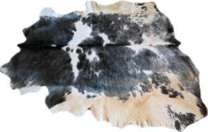 Stierfell schwarz-weiss 215 cm und 180 cm