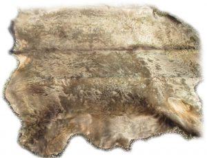 Rinderfell grau beige