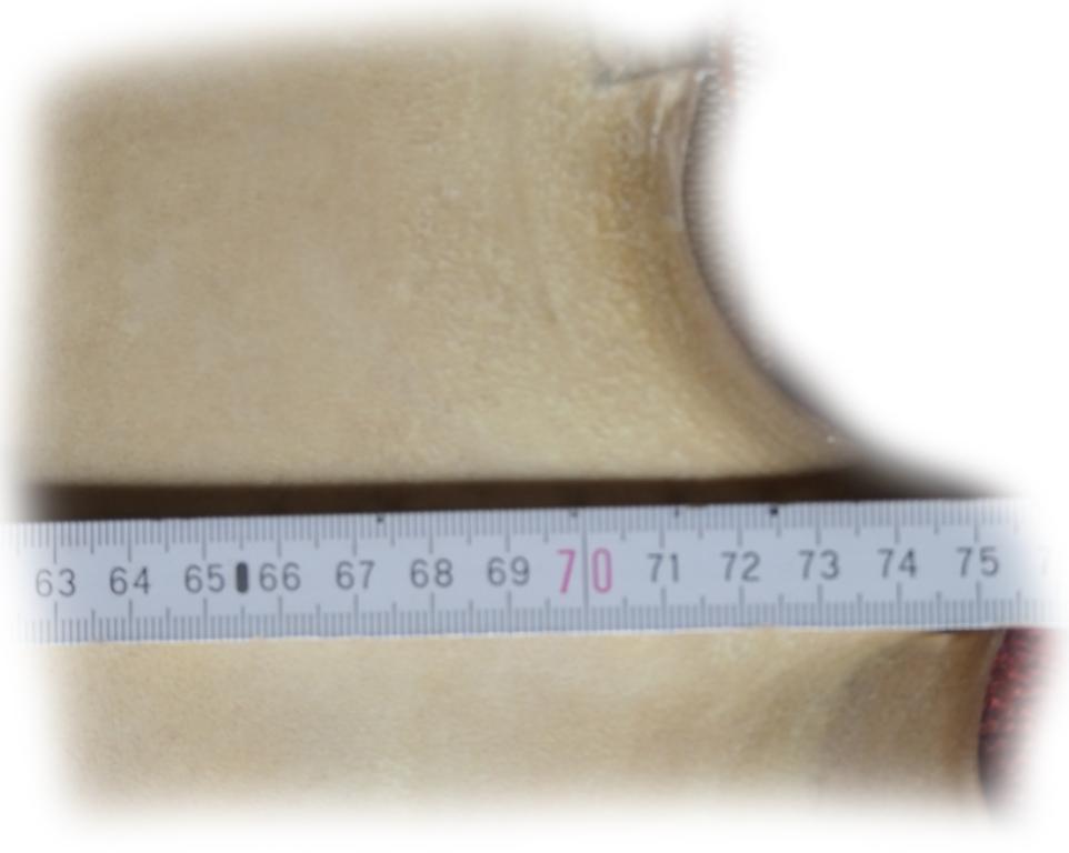 Rothirschrohhaut 95 Breite