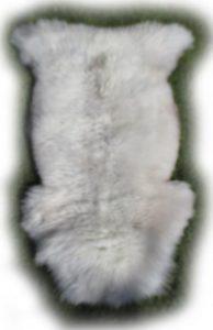 Naturweißes englisches Schaffell