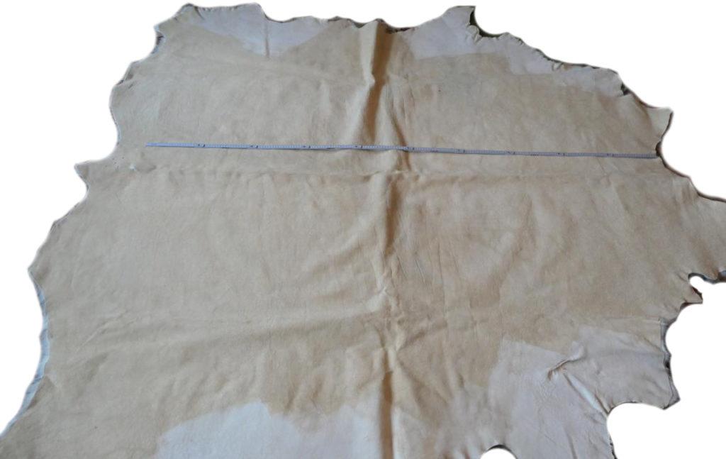 Stierfell Weiß Schwarz gefleckt Lederseite